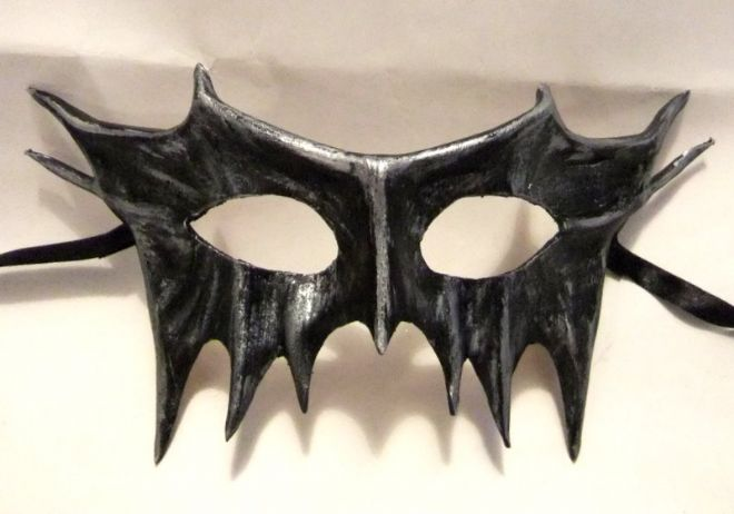 Mens Genuine Handmade Leather Demon Mask